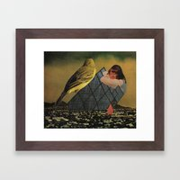 looking for happiness in all the wrong places Framed Art Print