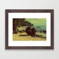 Puerto Rico Heart along the Beach Framed Art Print