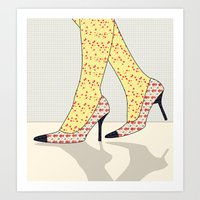 shoes Art Prints featuring Shoes by Ben Geiger