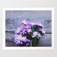 Pretty Blue Flowers Art Print