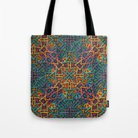 Colorful Fractal Pattern Tote Bag
