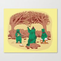 Rock The Forest Canvas Print