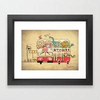 The Childhood Bus Framed Art Print