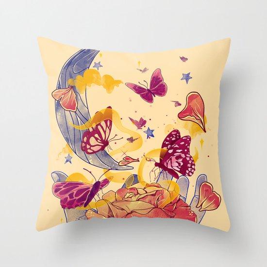 Papillon Ache Throw Pillow