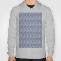 Art Deco Diamond Teardrop - Blue Hoody