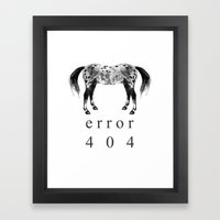 ERROR 404 Framed Art Print
