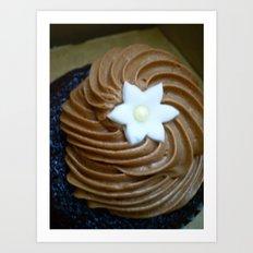 Chocolate cupcake Art Print