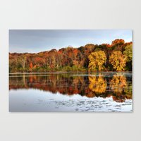 Canvas Print featuring Rock Cut State Park by Ornithology
