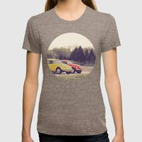 The Beetles Womens Fitted Tee Tri-Coffee SMALL