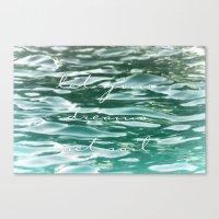 Let your dreams set sail Canvas Print
