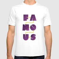 Famous Mens Fitted Tee White SMALL