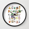 That's Alphabet Folks Wall Clock