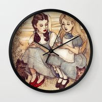 Dorothy And Alice Wall Clock