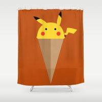 Pikachu Butter Cup Shower Curtain