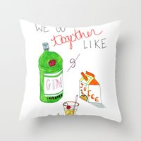 Gin & Juice Throw Pillow
