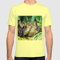 Duck, Duck...Duck? Mens Fitted Tee Lemon SMALL