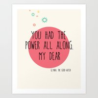 Glynda the Good Witch Typography quote Art Print