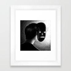 Drawlloween 2013: Mask Framed Art Print