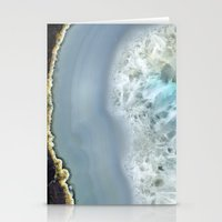 Blue Agate II Stationery Cards