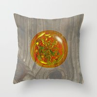 Berry Bubble on wood Throw Pillow