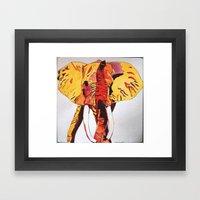 Sherbet The Elephant Framed Art Print