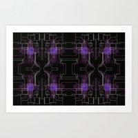 Circuit Board Purple Rep… Art Print