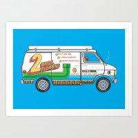 2 Bros. Plumbing Van Art Print
