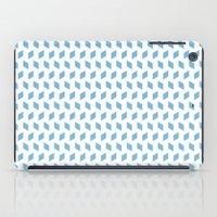 rhombus bomb in dusk blue iPad Case