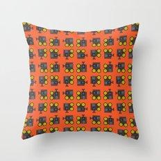 camera 01 pattern Throw Pillow