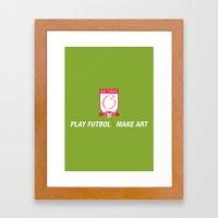Play Futbol, Make Art Framed Art Print