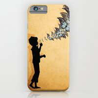 iPhone & iPod Case featuring Boy Blowing Butterflies by Lucita Peek
