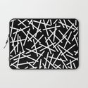 Kerplunk Black and White Laptop Sleeve