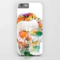 Abraham (Abe) Lincoln Skull Watercolor iPhone 6 Slim Case
