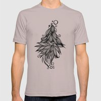 Ornate Tangle Wave Form Mens Fitted Tee Cinder SMALL