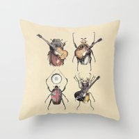 Meet the Beetles Throw Pillow