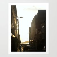 Chilling in the street Art Print
