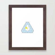 Triangle of Six Refracted Prism Framed Art Print