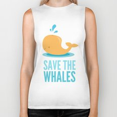 SAVE THE WHALES Biker Tank