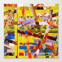 Jay (stripes 10) Canvas Print