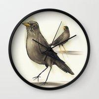 Chilean Fieldfare Wall Clock