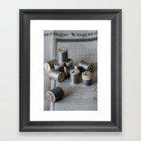 Grey Notions Framed Art Print