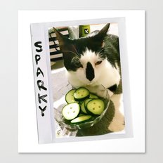 Sparky and Cucumbers Canvas Print