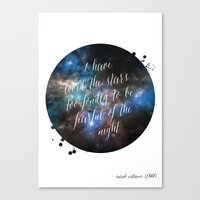 Loved The Stars Canvas Print
