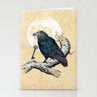 Raven's Key Stationery Cards