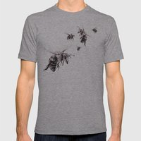 Crown of Bees Mens Fitted Tee Athletic Grey SMALL