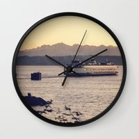 Puget Sound Ferry Wall Clock
