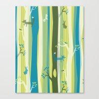 Woodland Stripe Canvas Print
