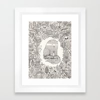 froggle, doggle and poggle Framed Art Print