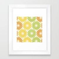 Zesty Burst Framed Art Print