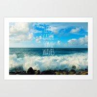 Wave Catcher Art Print